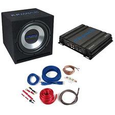 CRUNCH CBP500 - 500 Watt Basspack - Auto Hifi Bass Anlage Komplett Set (Paket bestehend aus 1 x Verstärker Crunch GPX500.2, 1 x Subwoofer Crunch GPX350, 1 x Kabel-Set Crunch GPX10WK)