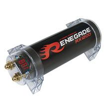 Renegade RX1200 - Leistungskondensator (1,2 Farad Kapazität / hochwertig verarbeiteter Powercap)