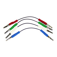 Cardas Audio HSL PCC ER - Headshell-Kabel (versilbert und rhodiniert / 55 mm / 4 Stück)