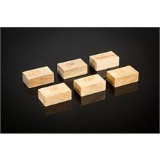 Cardas Audio Golden Cuboids - Myrtenholz Blocks S - Geräteunterstellfüße (kleine Ausführung / aus Myrtenholz gefertigt / 6 Stück)