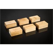 Cardas Audio Golden Cuboids - Myrtenholz Blocks L - Geräteunterstellfüße (große Ausführung / aus Myrtenholz gefertigt / 6 Stück)