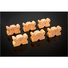 Cardas Audio MCB - Multi Blocks - Kabelhalter (zum Platzieren unter Zuleitungskabeln / aus Douglasfichte gefertigt im