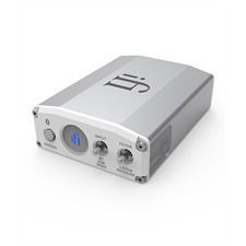 iFi-Audio Nano iOne - Digital-Analog Konverter (USB / Bluetooth / Hi-Res / S/PDIF / silber)