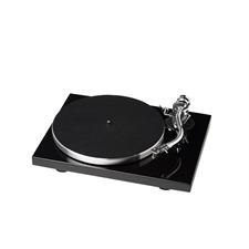 Pro-Ject 1-Xpression Classic S-Shape - manueller Plattenspieler (S-Shape Tonarm / Hochglanz schwarz / Ortofon 2M Silver MM-Tonabnehmer / inkl. Staubschutzhaube)