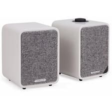 ruarkaudio MR1 MKII - aktives Stereo-Bluetooth Lautsprechersystem (Bluetooth / Aux-In / Optical In / Klasse A-B Verstärker / Apt-x-Bluetooth / matt grau)
