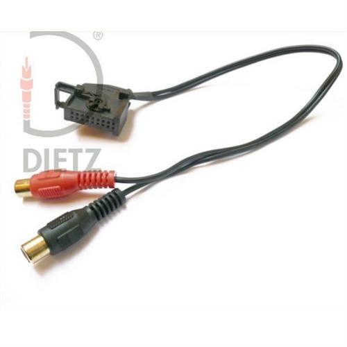 dietz 1311 aux in cinch adapter stecker kabel f mercedes benz comand 2 0 ohne tv ebay. Black Bedroom Furniture Sets. Home Design Ideas