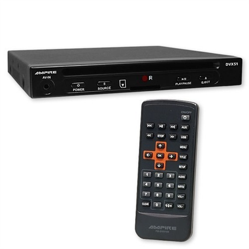 ampire dvx51 dvd player mit sd usb anschluss 1 2 din. Black Bedroom Furniture Sets. Home Design Ideas