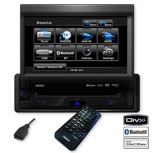 clarion vz401e dvd multimedia station mit 7 touchpanel. Black Bedroom Furniture Sets. Home Design Ideas