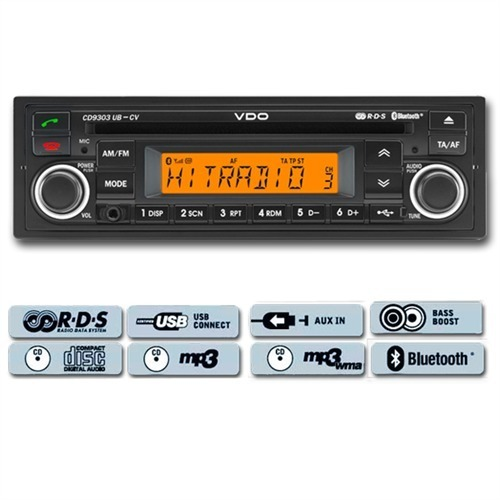 vdo bluetooth usb cd mp3 radio rds autoradio car voiture 12 v cd9303ub cv ebay. Black Bedroom Furniture Sets. Home Design Ideas
