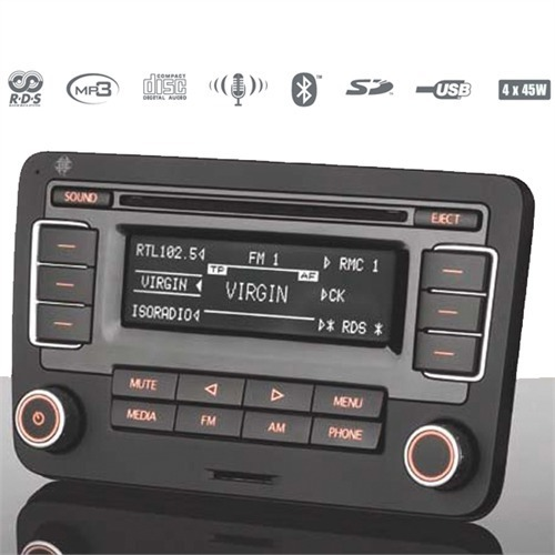 telefunken autoradio cd mp3 usb sd bluetooth volkswagen vw golf 6 vi passat seat ebay. Black Bedroom Furniture Sets. Home Design Ideas
