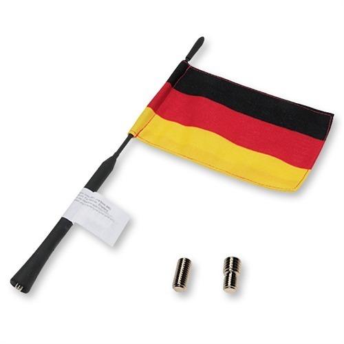 BLAUPUNKT-FanFun-Antenne-16V-Antennenstab-mit-Deutschland-Fahne-Auto-KFZ-PKW-Car