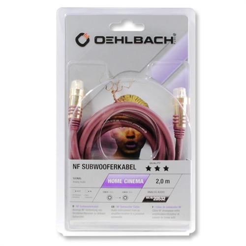 Oehlbach 20532 - NF SUB 200 - Subwoofer Cinch-Kabel (1 x Cinch auf 1 ...