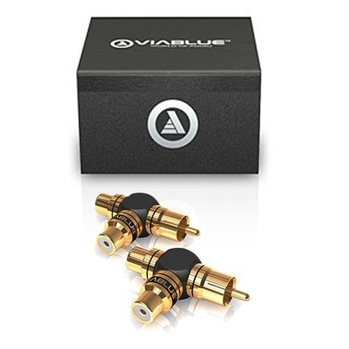 viablue 40640 xs y cinch adapter 2 stk schwarz gold. Black Bedroom Furniture Sets. Home Design Ideas