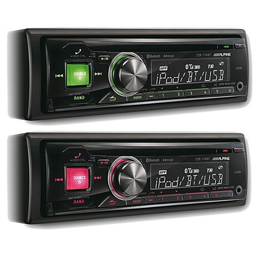 alpine cde 174bt cd rear usb front aux bluetooth autoradio. Black Bedroom Furniture Sets. Home Design Ideas
