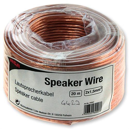 RCA D1C84007 - Speaker Wire - Lautsprecherkabel Mini-Trommel (20m ...