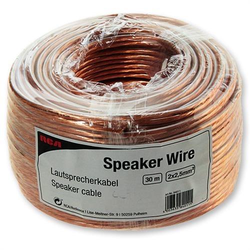 RCA D1C84011 - Speaker Wire - Lautsprecherkabel Mini-Trommel (30m ...