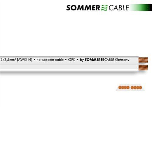 SOMMER CABLE Tribun 225 Lautsprecherkabel speaker 1m weiß Flach ...