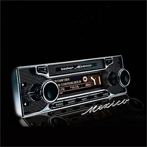 becker mexico retro vintage classic car fm radio gps. Black Bedroom Furniture Sets. Home Design Ideas