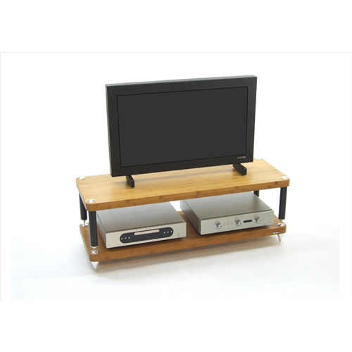 atacama evoque eco 44 16 hifi tv rack 145mm ebene modul bambus massiv spikes ebay. Black Bedroom Furniture Sets. Home Design Ideas