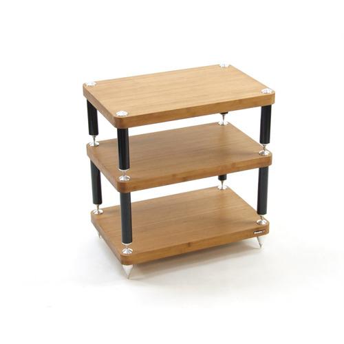 atacama evoque eco 24 16 hifi rack hochwertiges 24 16 hifi rack mit 3 ebenen bambus vollholz. Black Bedroom Furniture Sets. Home Design Ideas
